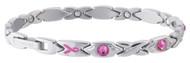 Sabona Courageous Pink Ribbon Magnetic Bracelet
