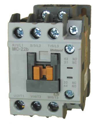 ls mc 22b metasol 3 pole 22 amp contactor with a 24vac coil and 1 rh kentstore com