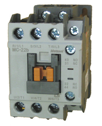 LS MC-22B METASOL 3 pole, 22 AMP contactor with a 24vAC coil and 1