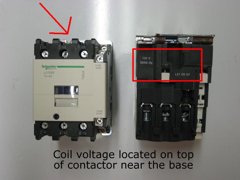 lc1d80u7 telemecanique / square d tesys contactor by ... 240 volt coil contactor wiring diagram