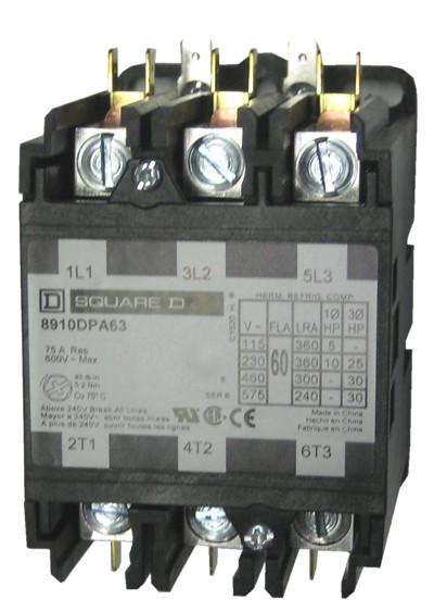 8910DPA63_01.2__62230.1477510136.1280.1280?c=2 square d 8910dpa63 3 pole definite purpose contactor by schneider square d definite purpose contactor wiring diagram at gsmportal.co