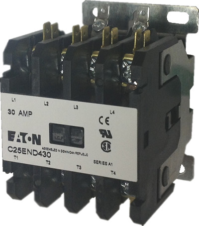 eaton cutler hammer c25dnd430 4 pole contactor rated at 30 amps  4 pole contactor 2 no 2nc wiring diagram #21
