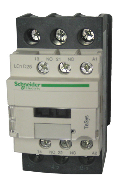 square d telemecanique lc1d25u7 25 amp iec contactor with 1 n o and rh kentstore com Line and Load Wiring-Diagram Furnace Diagram 120V