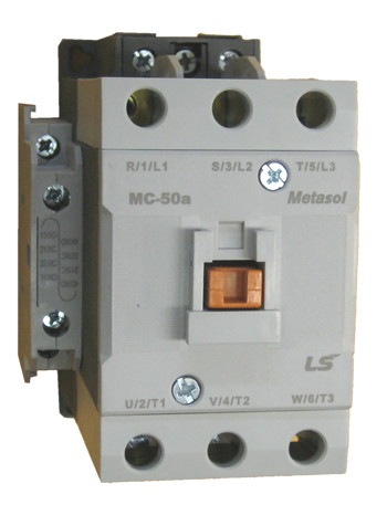 ls mc 50a metasol 3 pole 50 amp contactor with an ac coil and 2 rh kentstore com Reversing Contactor Wiring Diagram Electrical Contactors Wiring