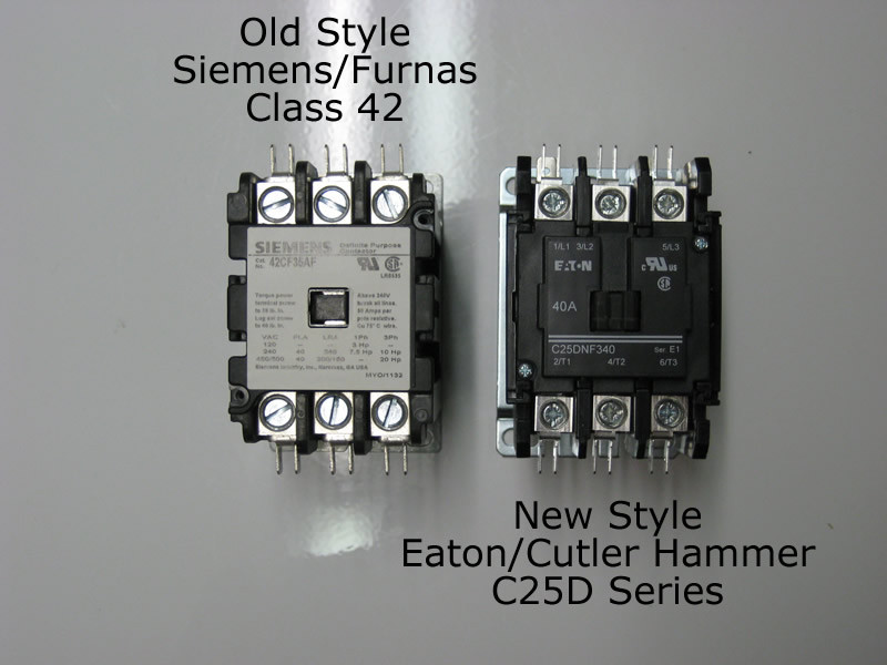 Eaton cutler hammer c dnd pole contactor rated at