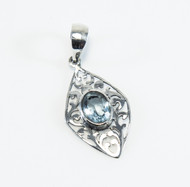 Balinese Design with Blue Topaz