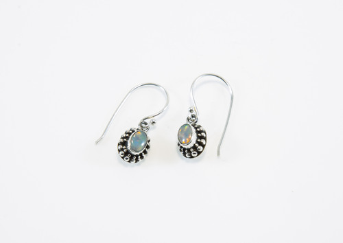 Our Original Design has Lab Created Opals with Balinese Oxidized Design