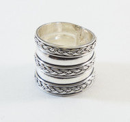 Handmade Band Ring with Rope Pattern
