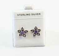 Blooming Flower Design with Genuine Amethyst