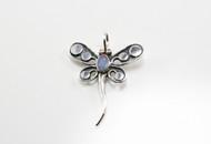 Natural Australian Opal Dragonfly Pendant