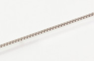 Thin Rhodium-Plated Silver Box Chain