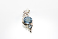 Balinese Faceted Blue Topaz Pendant