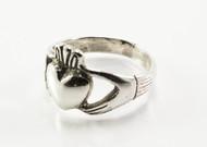 Big Silver Claddagh Ring