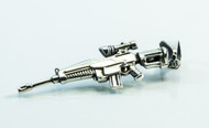 Silver Rifle with Scope Pendant