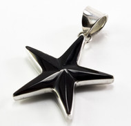 Black Shell Starfish Pendant