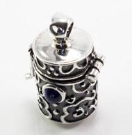 Sapphire Silver Prayer Box