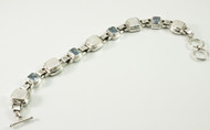 Mother of Pearl and Blue Topaz Balinese Bracelet