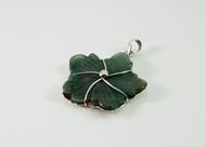 Balinese Green Aventurine Leaf Pendant