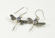 Dragonfly Moonstone Balinese Earrings