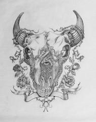 Fantasy Skull [Note Card Set of 6]