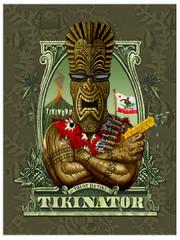 Tikinator [Note Card Set of 6]