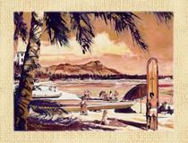 Waikiki Beach [Note Card Set of 6]