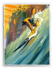 Golden Surf Sled [SIGNATURE EDITION 18 x 23]