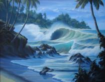 South Sea Surf [Original Painting]