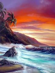 Tequila Sunrise [Original Painting]