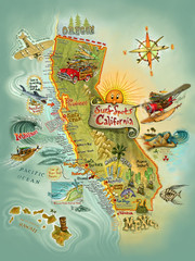 Cali Surf Spots   [Print]