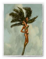 Fantasy Palm Girl [SIGNATURE EDITION 18 x 23]