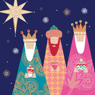 Following Yonder Star Cards Double Pack [5 of each design]. £3.95 for 10 cards. [Gloss finish]. Greeting: With Best Wishes for Christmas and the New Year.