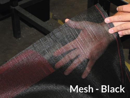 "Heavy Duty Black Mesh Tarp - 7'6"" X 34' (20-C12271/1802163)"
