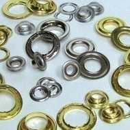 #7 Brass Rr Grommet W/Spur Washers Nickel Plated