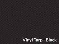 9' X 22' Black Vinyl Tarp W/Flaps (20-4326/1801610)