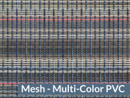 8' X 28' Multi Color Mesh Tarp, W/Reinforcments, No Flaps, (20-637