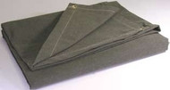 10' X 12' c/s 12.41 oz.. Flame Resistant Canvas Tarp W/Grommets 24'' Apart