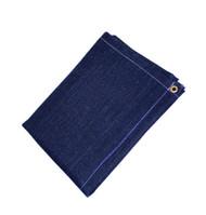 9' X 15' 23 oz.. Black Slag Shed Blanket W/ Grommets 24'' Apart On All Sides