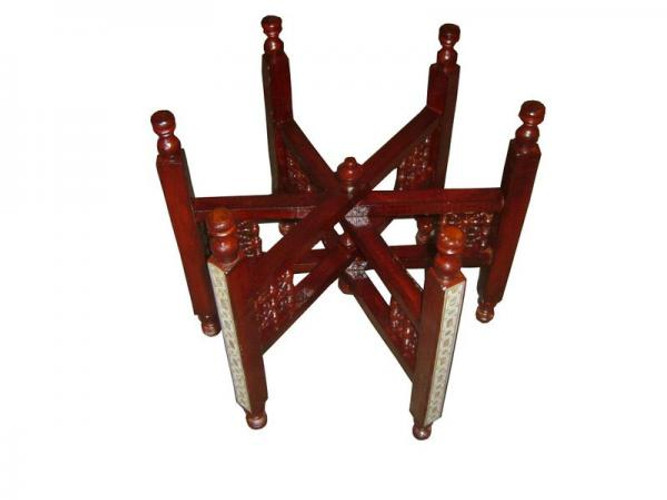 MOP Inlaid WOOD STAND