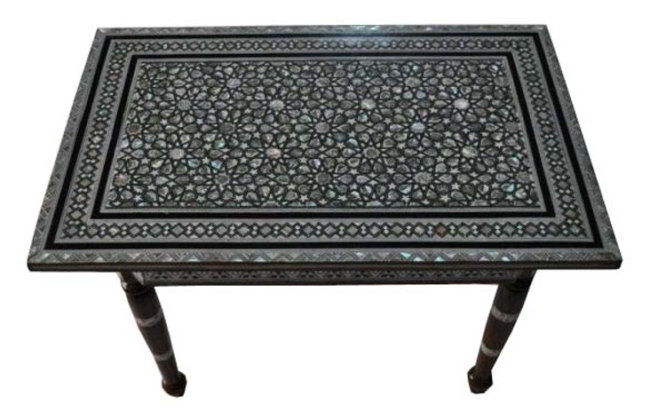 Egyptian Mother of Pearl Rectangular Coffee Table
