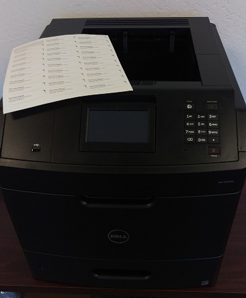 Dell S5830dn: How to Set to Print on Labels