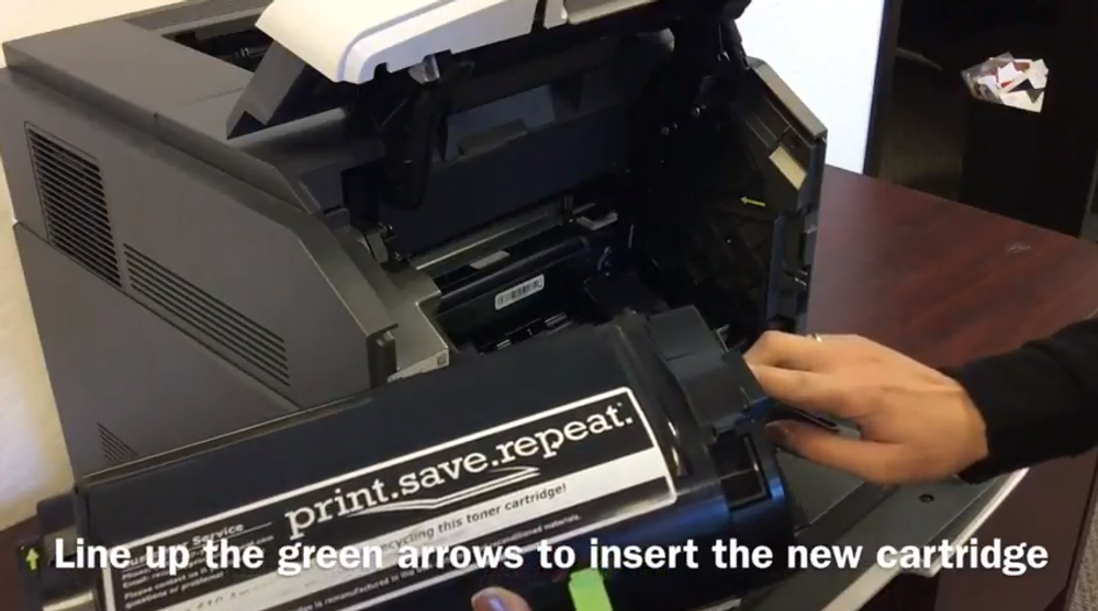 Lexmark MS812: How to Replace the Toner Cartridge