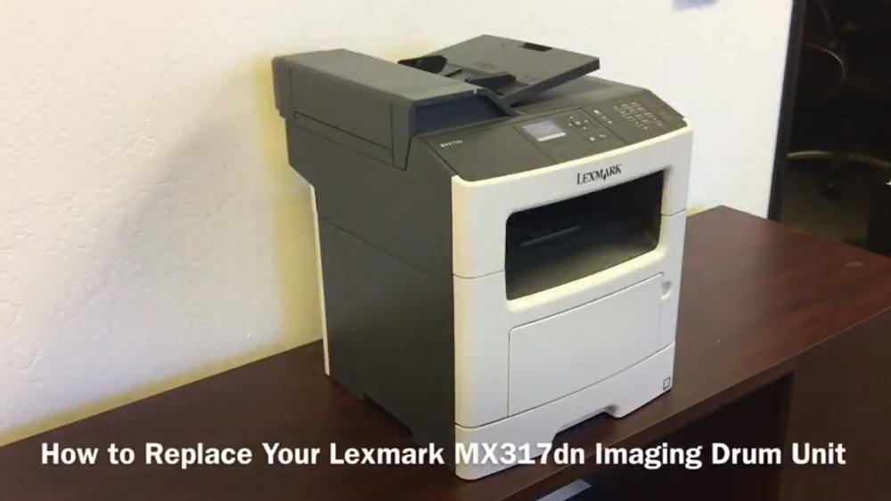 Lexmark MX317dn: How to Replace Your Imaging Drum Unit