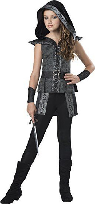 Incharacter Dark Woods Huntress Brocade Girls Tween Halloween Costume 18096