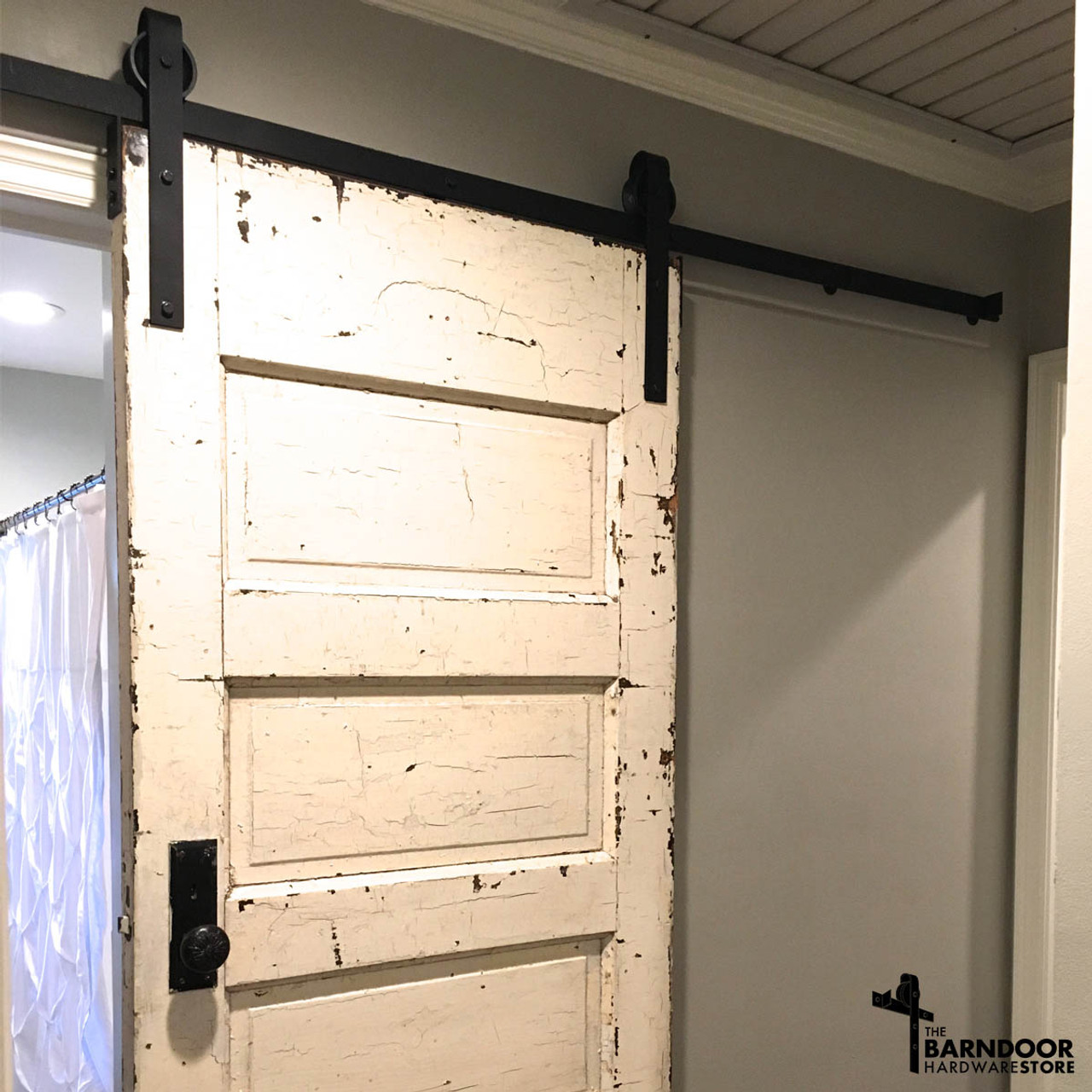 Carnegie standard barn door hardware kit the barn door standard style sliding barn door hardware vtopaller Image collections