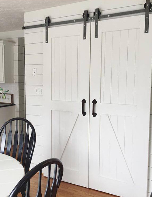 sliding shed door hardware lowes diy interior barn double installed