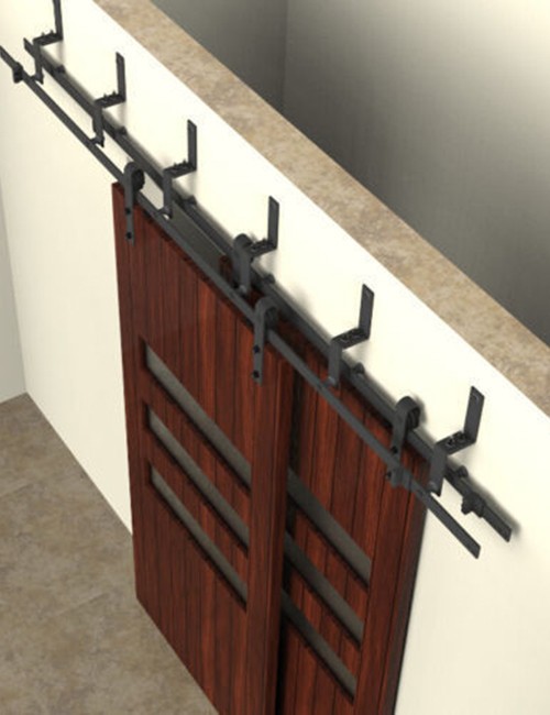Perfect Double Track Bypass Barn Door Hardware ...