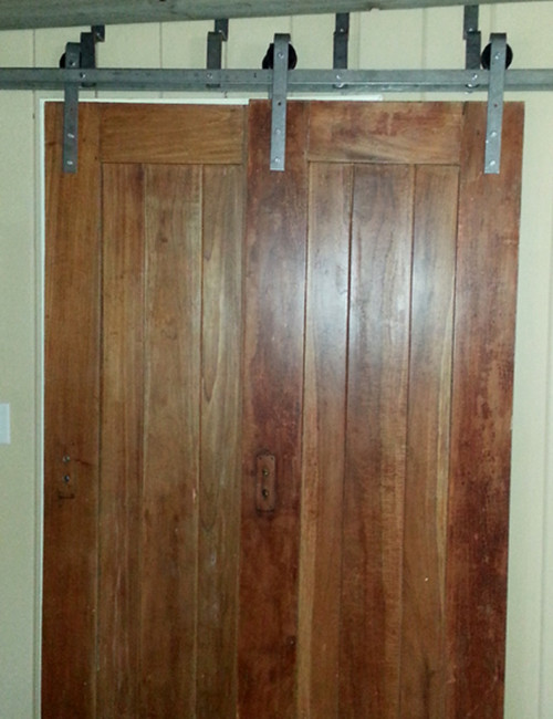 ... Double Track Bypass Installed Barn Door Hardware ...
