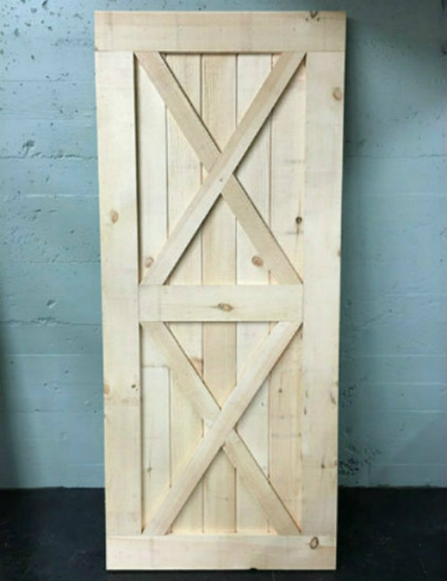Double X-brace Barn Door