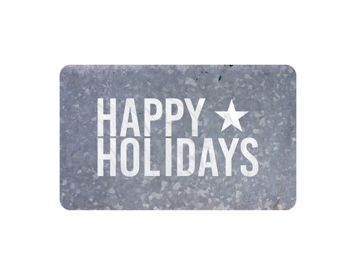 Happy Holiday - Vintage Metal Cards - White